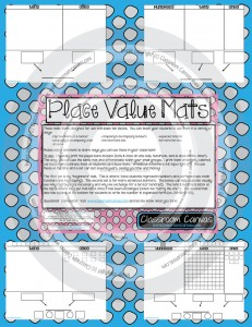 A preview of the place value mat