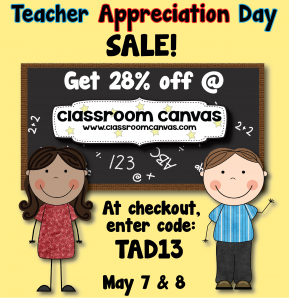 Teacher Appreciation Sale - May 7