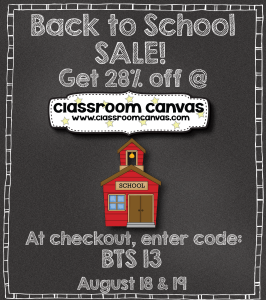 Back to School Sale - August 18